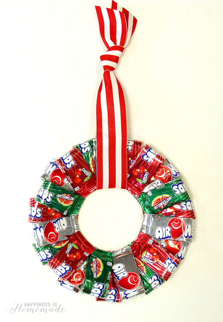 Airheads Christmas Candy Wreath Happiness Is Homemade