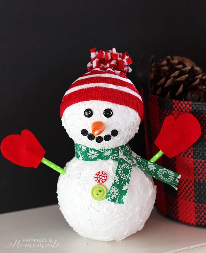 Christmas Snowman Decoration Craft