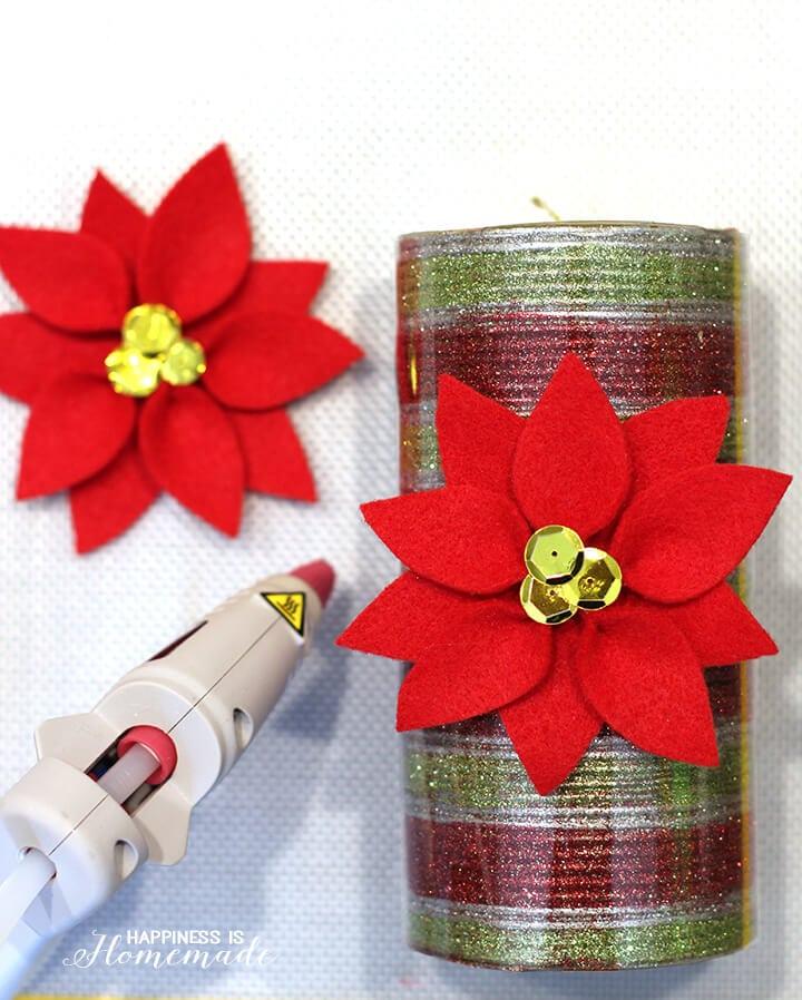 Felt Poinsettia Candles