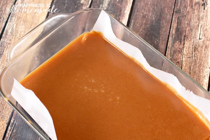 Pan of Sugar-Free Agave Caramels