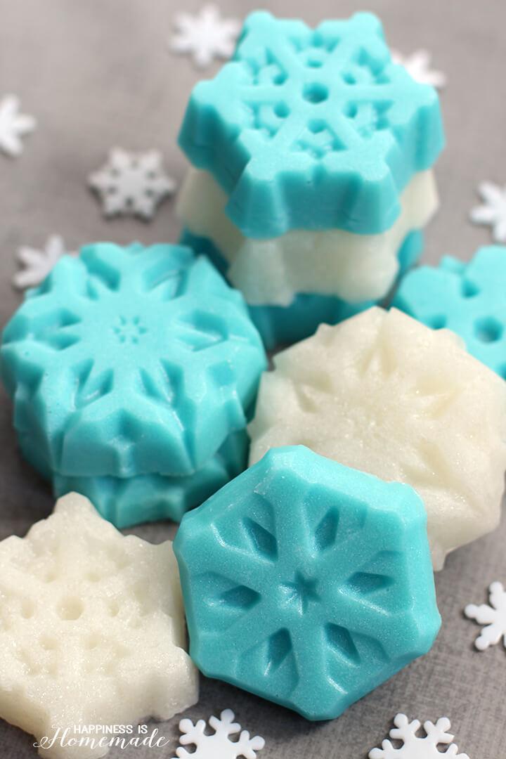 Shimmery Sugar Scrub Snowflake Cubes