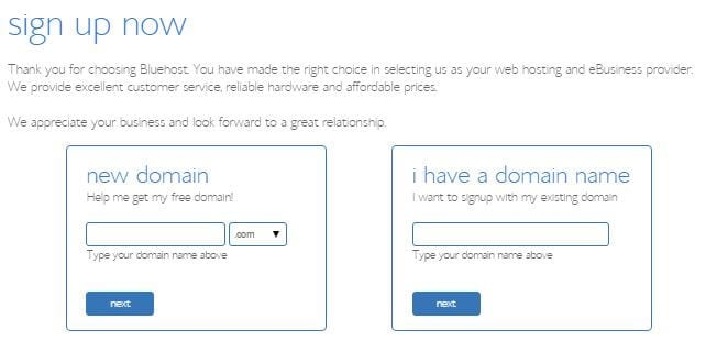 Bluehost Domain Name Registration