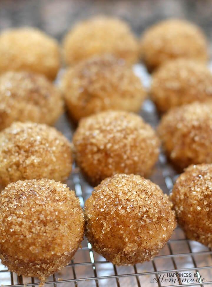 Cinnamon Sugar Snickerdoodle Donut Puffs