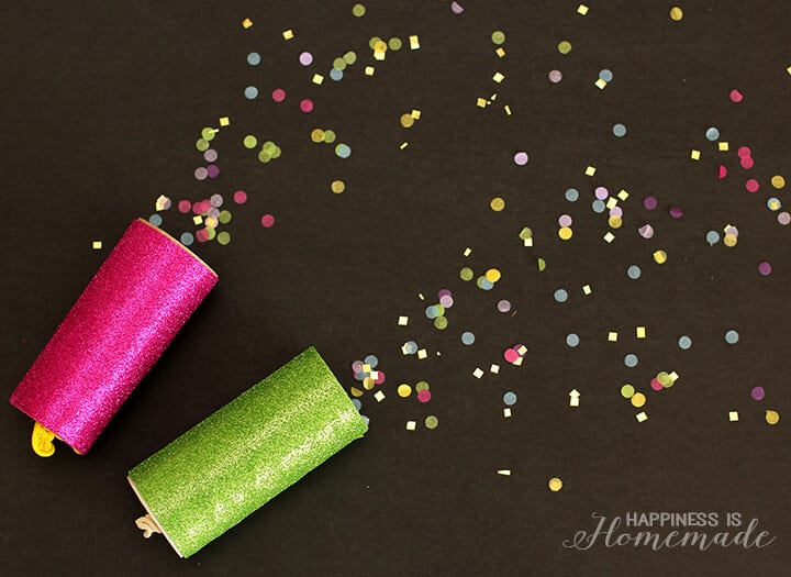 Kids Craft - DIY Confetti Launchers for New Years Eve
