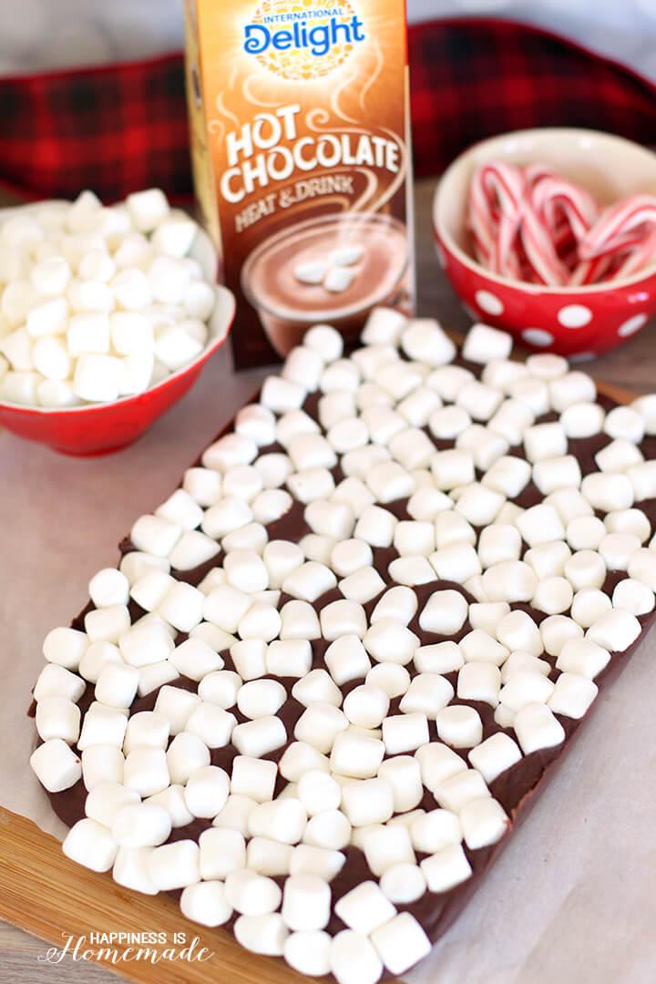 Slab of Hot Chocolate Marshmallow Fudge