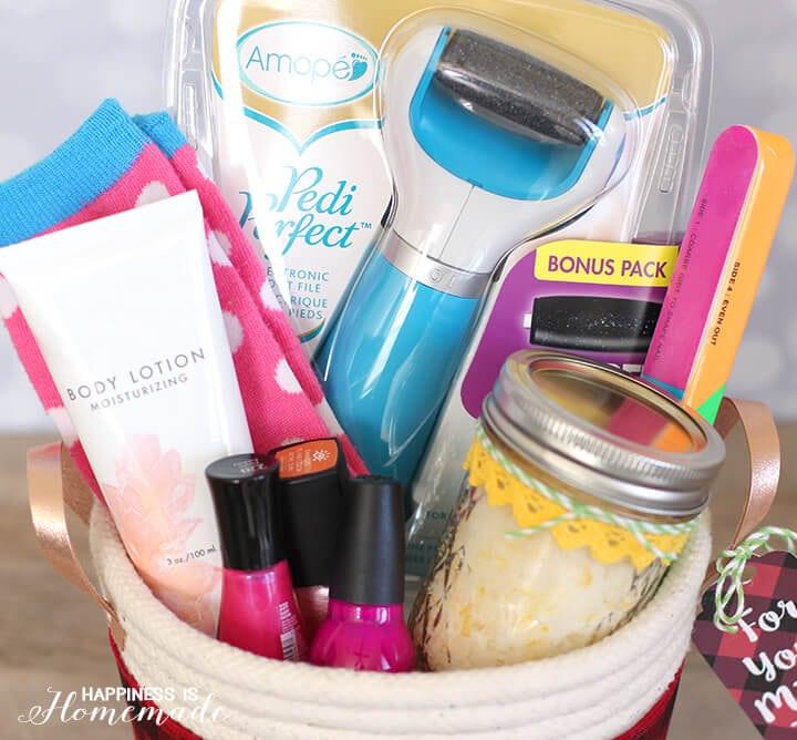 Spa Pedicure Gift Basket Idea 2