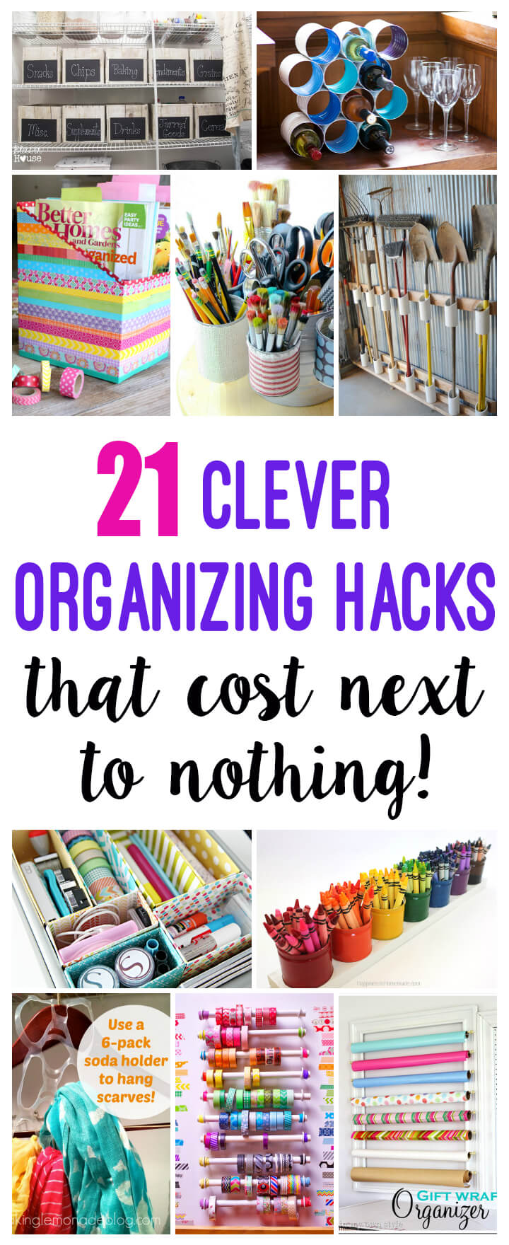 21 Clever Organization Hacks and Storage Solutions That Cost Next to Nothing
