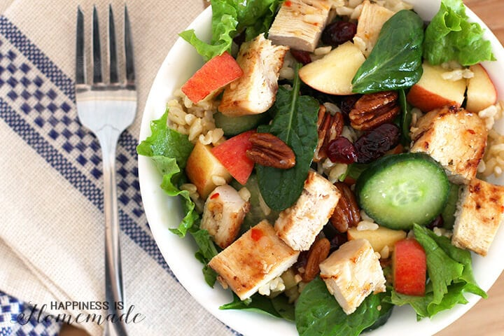 Brown Rice Chicken Apple Salad