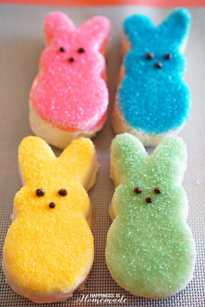 Mini Peeps Inspired Easter Bunny Cakes