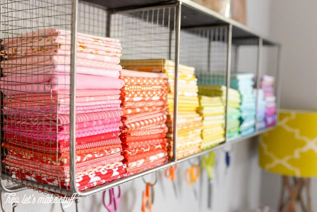 Rainbow Fabric Organization