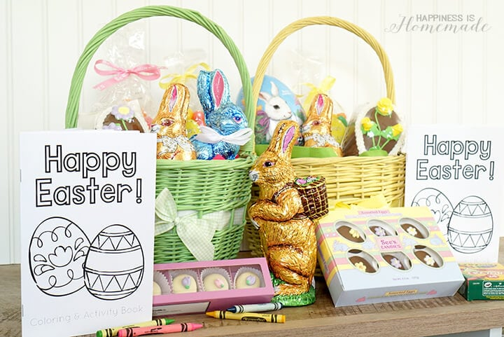 Printable Easter Coloring Book and Cute Easter Baskets with See's Candy