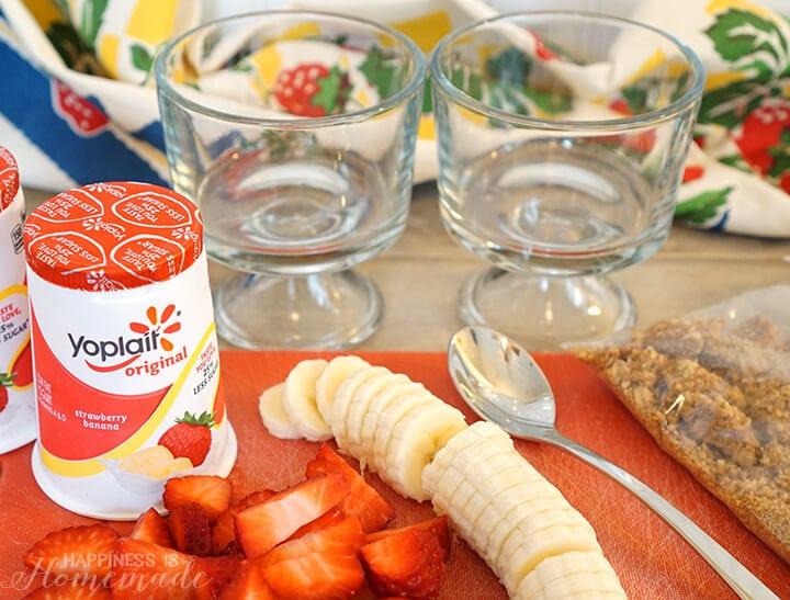 Strawberry Parfait Ingredients