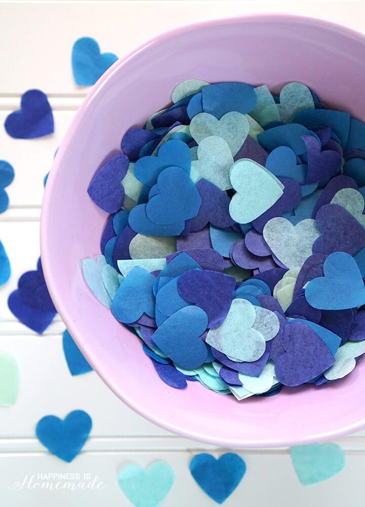 Blue Heart Confetti