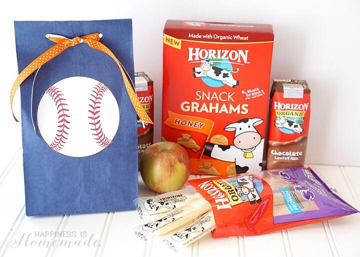 Horizon Organic Baseball Team Snack with Free Printables
