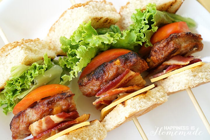 Johnsonville Cheddar Cheese and Bacon Grillers Kabobs