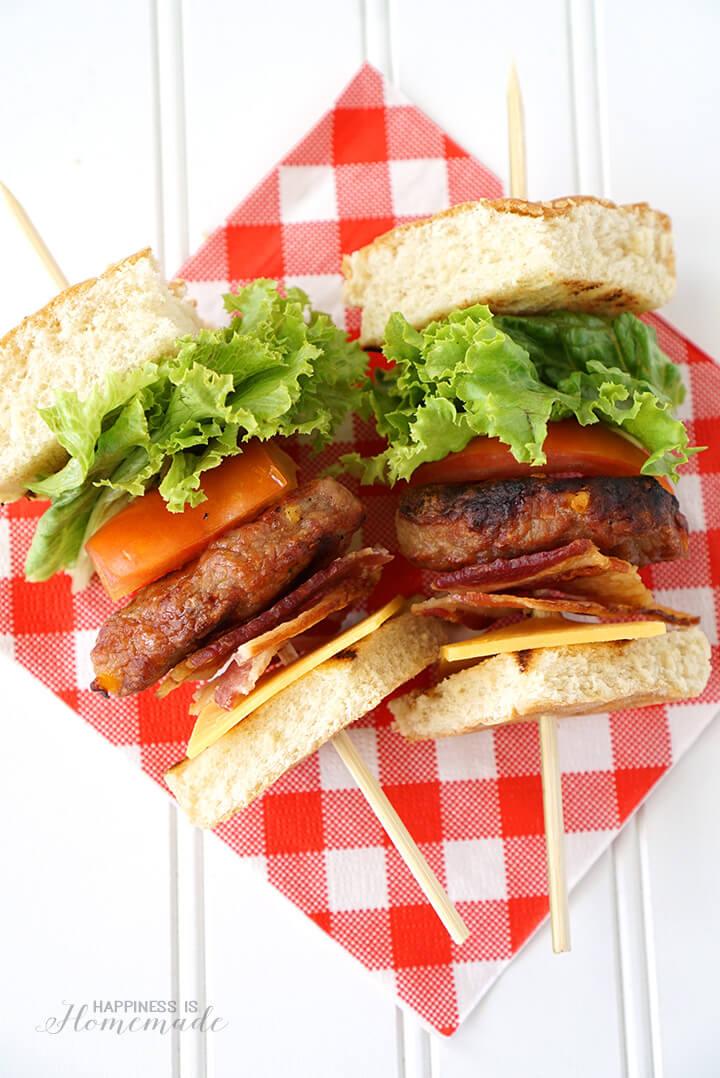 Johnsonville Grillers Burger Kabobs