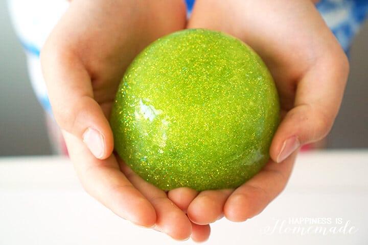 Green Glitter TMNT Sewer Ooze Slime