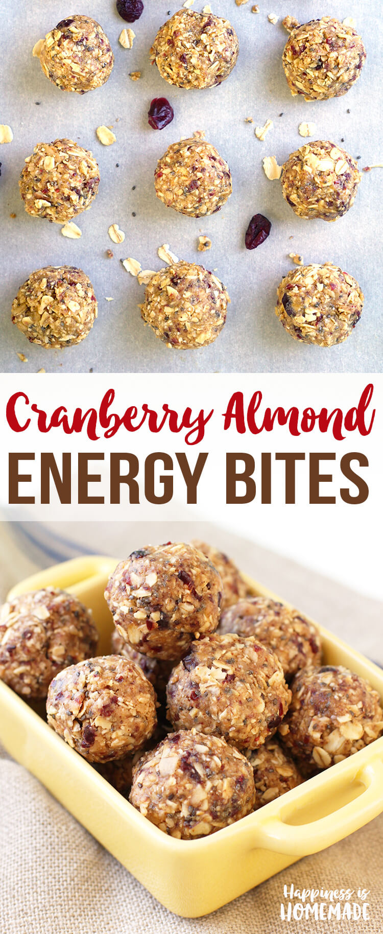 Cranberry Almond Energy Bites are Healthy and Delicious