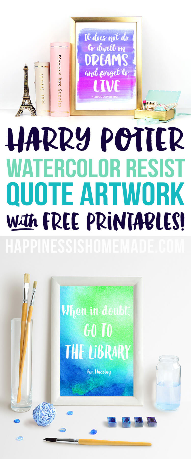 Harry Potter Printable Watercolor Quotes