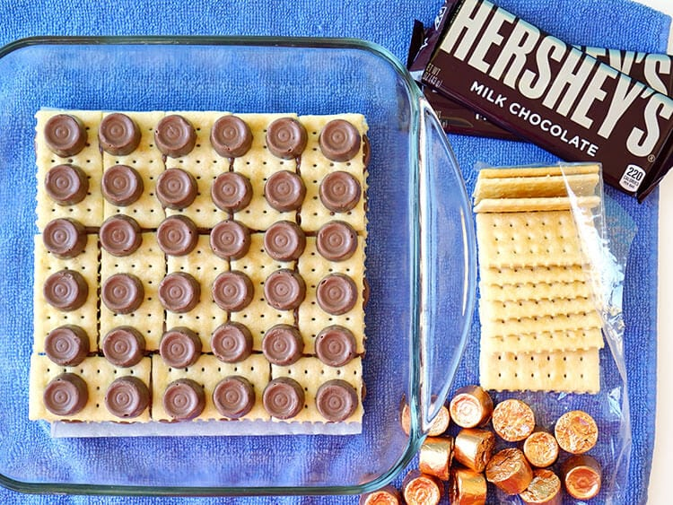How to Make Triple Layer Chocolate Caramel Cracker Candy Bars