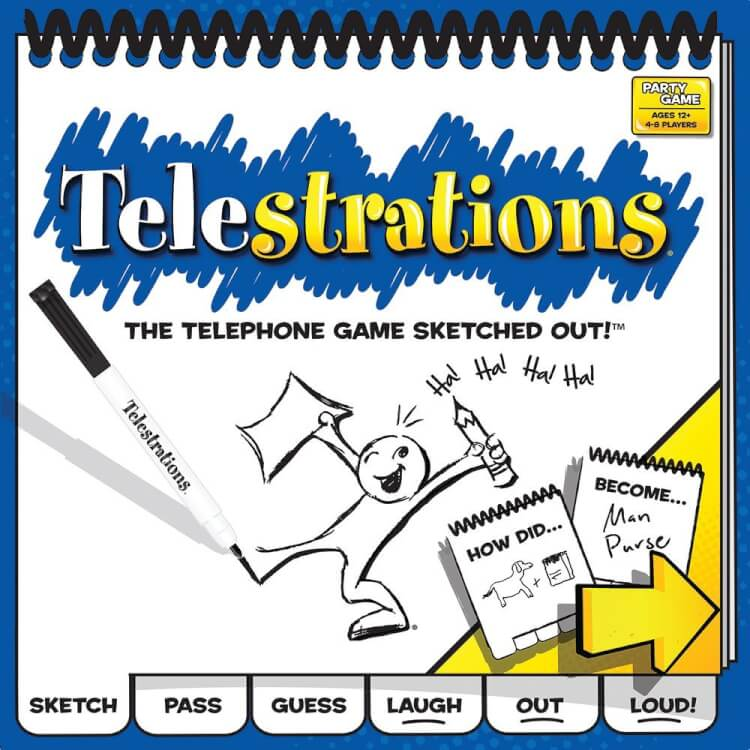 Telestrations: The Telephone Game Sketched Out