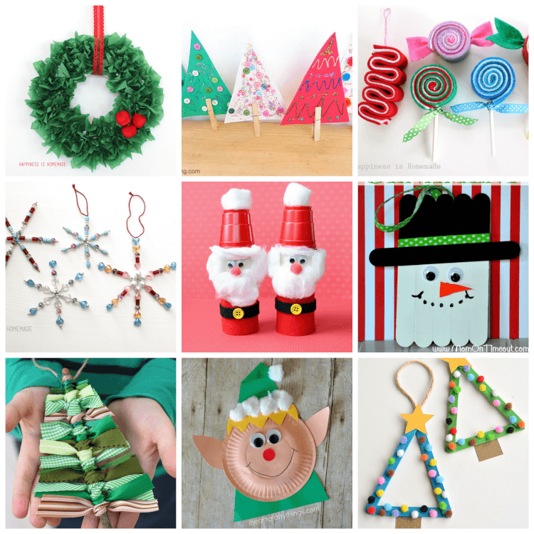 easy christmas kids crafts