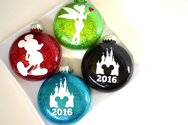 Glitter Christmas House Silhouettes