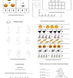 Kindergarten Halloween Math Pack - Happiness is Homemade [ 1310 x 750 Pixel ]