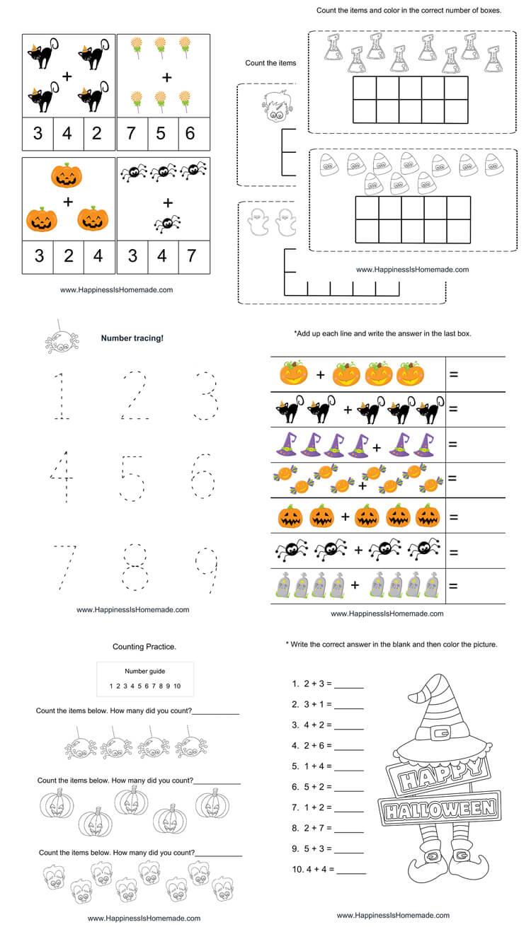 hight resolution of Kindergarten Halloween Math Pack - Happiness is Homemade