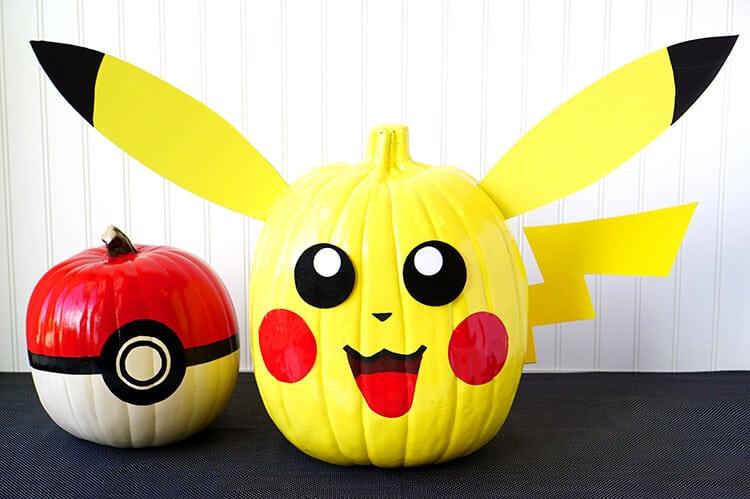 pokemon-pikachi-and-pokeball-pumpkins
