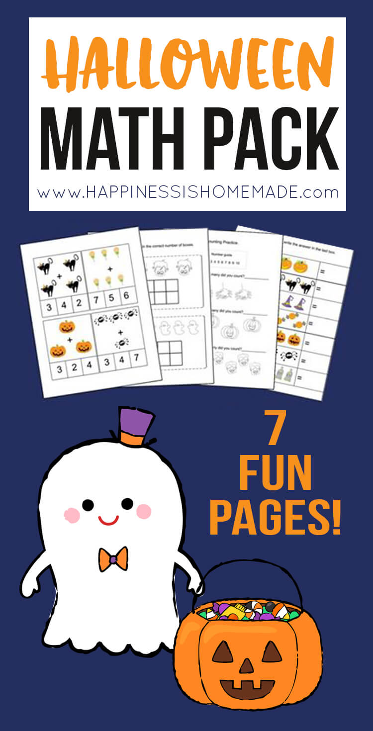 medium resolution of Kindergarten Halloween Math Pack - Happiness is Homemade