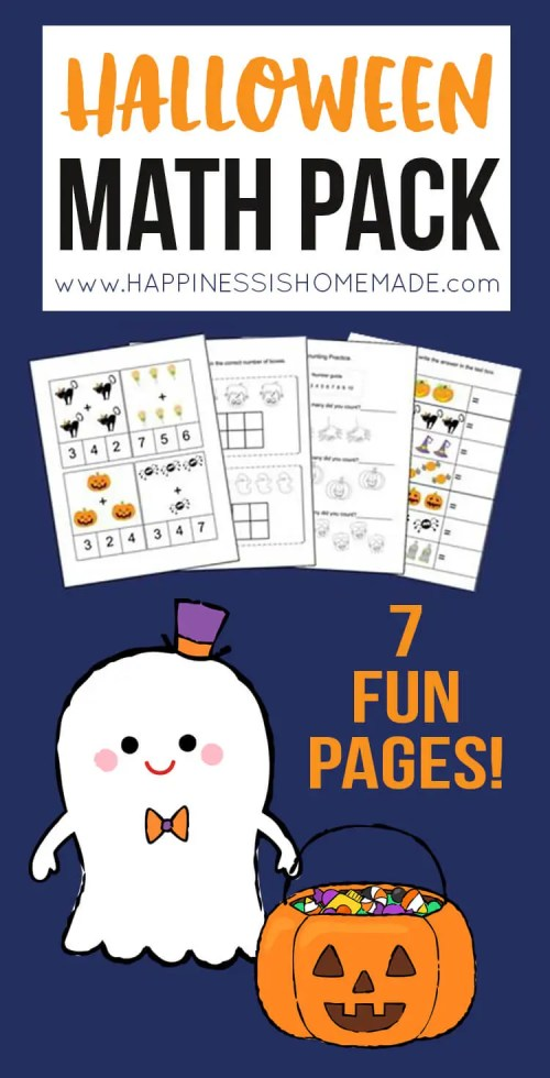 small resolution of Kindergarten Halloween Math Pack - Happiness is Homemade