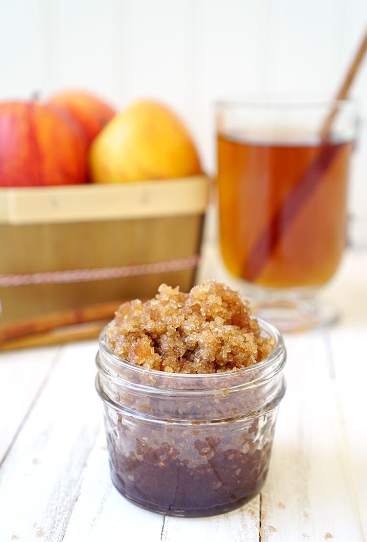 spiced-apple-cider-sugar-scrub-with-brown-sugar