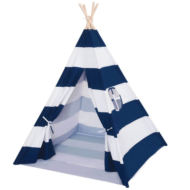 navy-and-white-striped-teepee