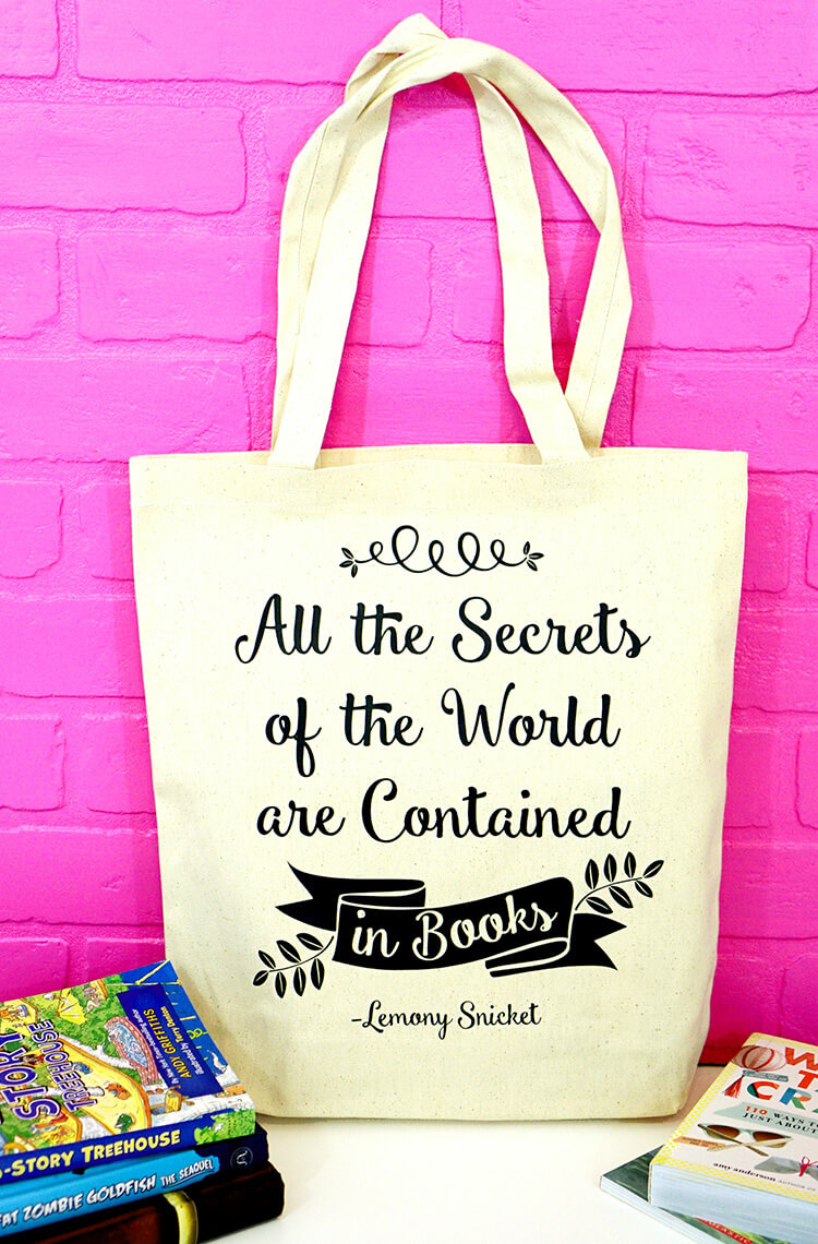 lemony-snicket-quote-book-bag