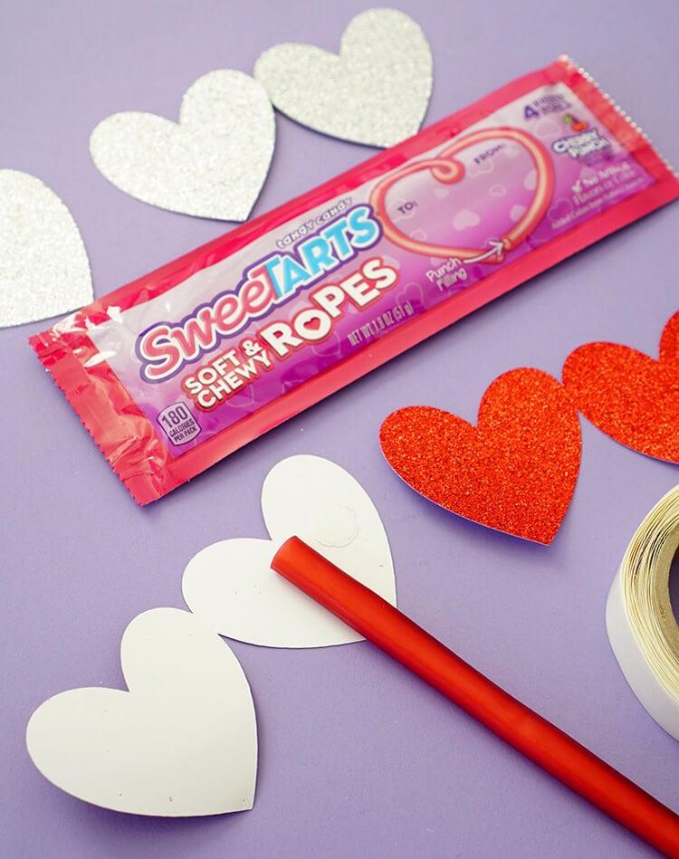 Making SweeTART Rope Valentines Gift