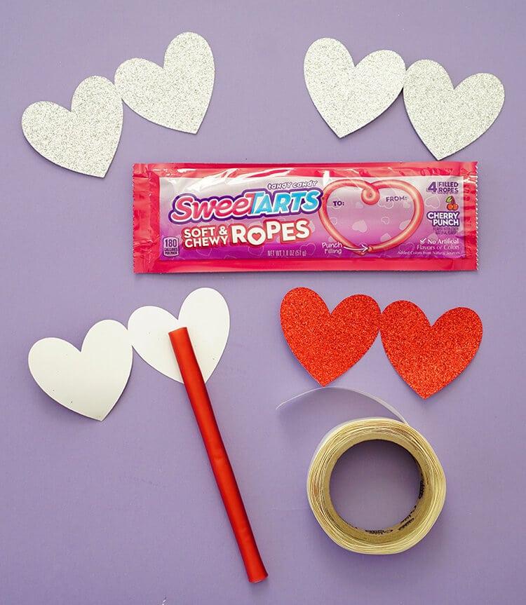 Making SweeTART Rope Valentines