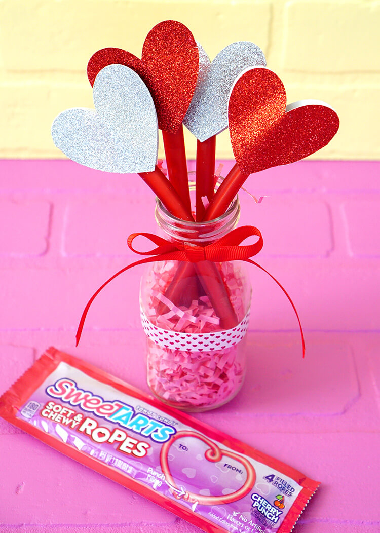 SweeTART Ropes Valentine's Day Heart Bouquet Gift Idea