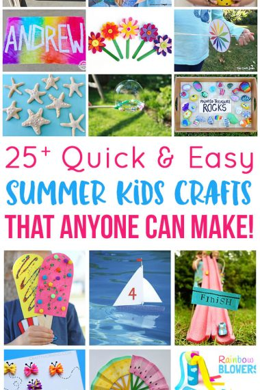 Collage of 25+ Quick and Easy Summer Kids Crafts That Anyone Can Make