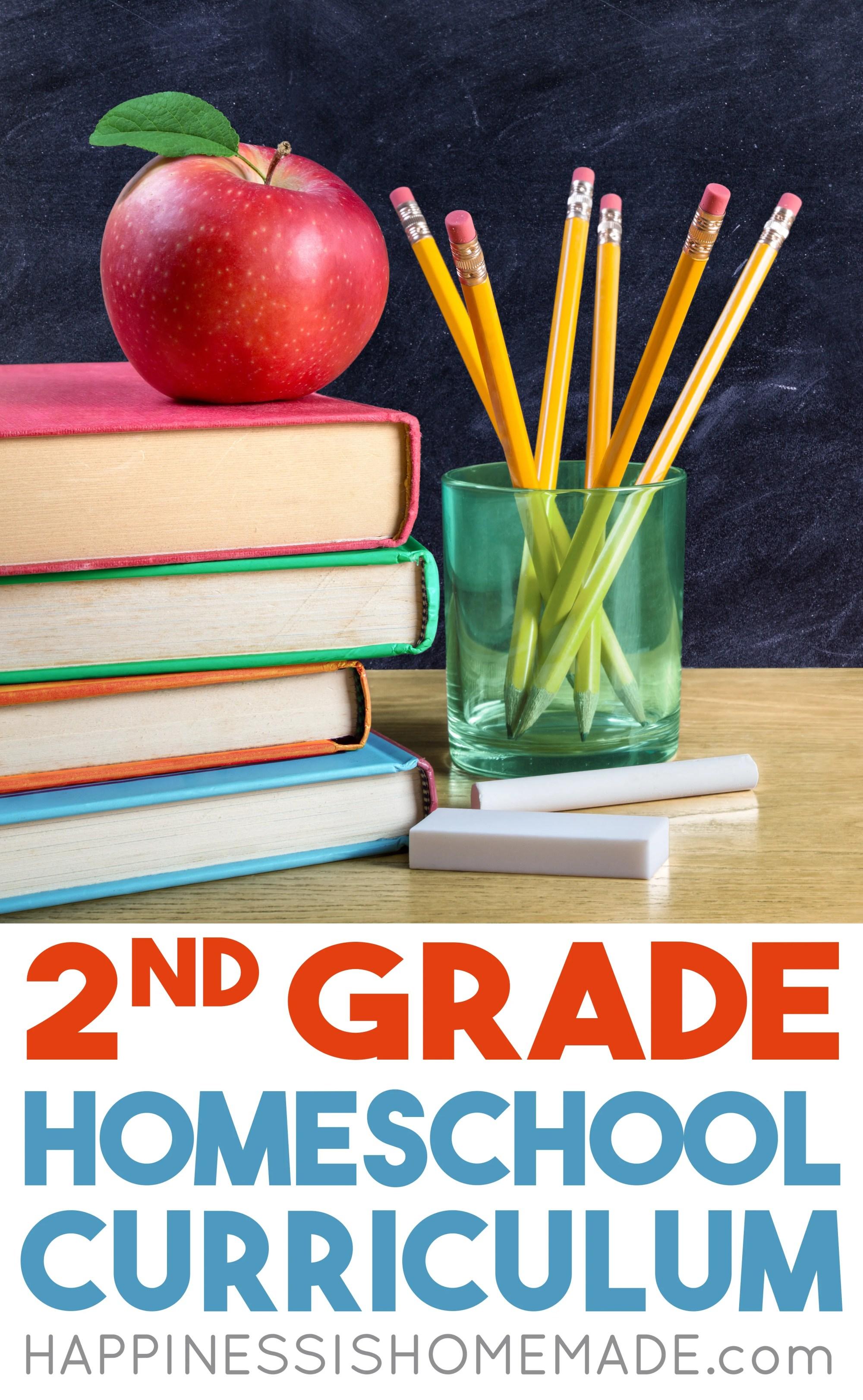 hight resolution of Homeschool Curriculum - 2nd Grade - Happiness is Homemade
