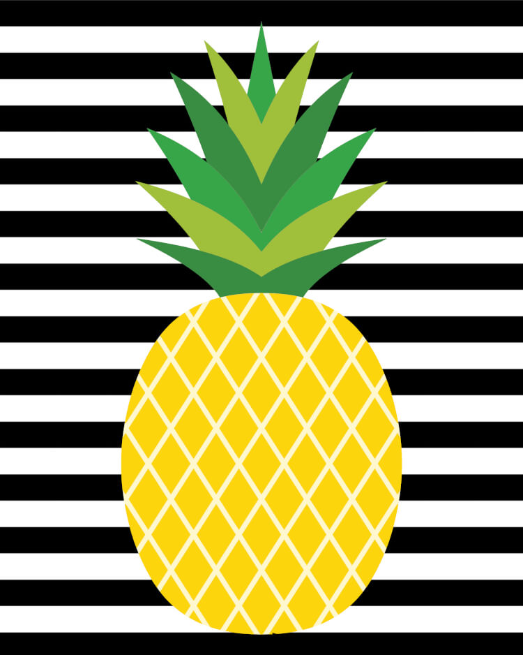 These cute pineapple printables will make a stylish addition to your home decor! Bonus pineapple gift tags are perfect for gift-giving!