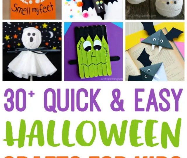 These Quick And Easy Halloween Kids Crafts Can Be Made In Under 30 Minutes Using Items