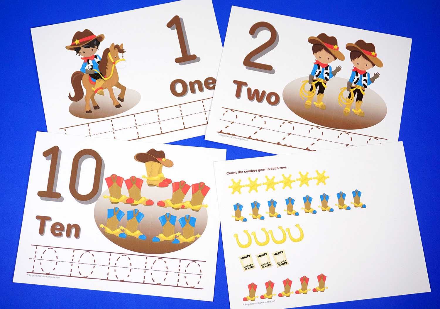 Printable Worksheet For Preschool Numbers