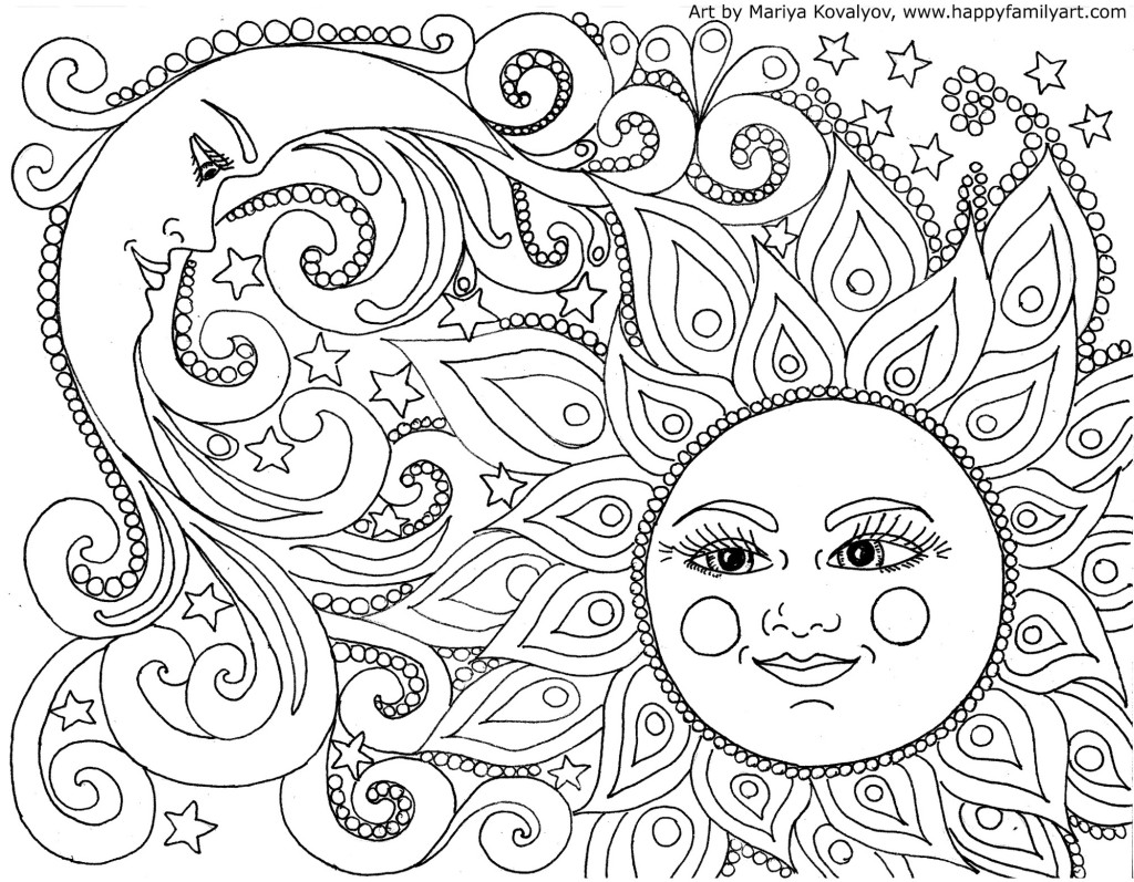 FREE Adult Coloring Pages - Happiness is Homemade | free online coloring pages for adults easy