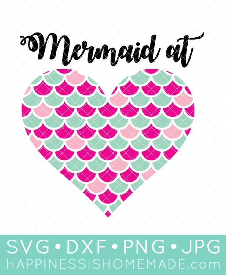 Mermaid at Heart SVG