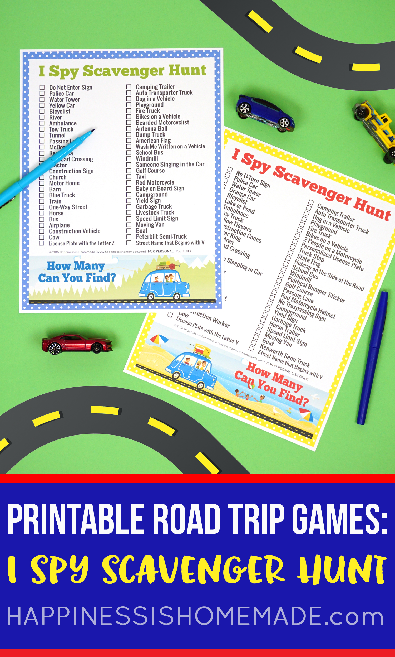 Road Trip Games License Plate Coloring Map S Mores Snack Mix