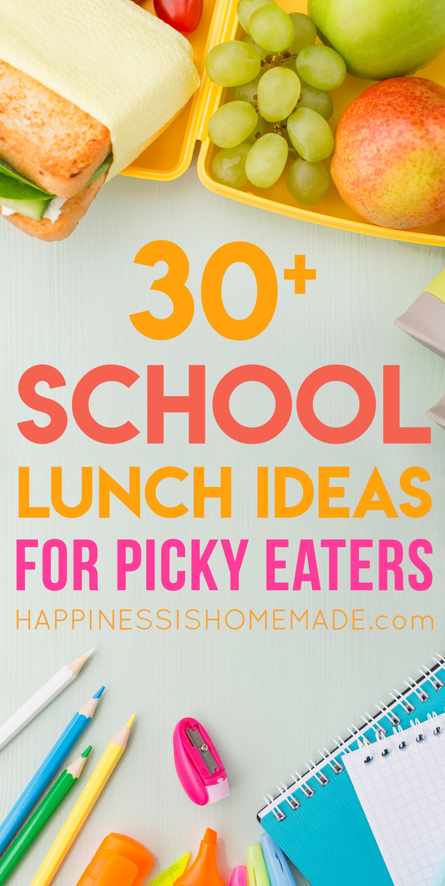 30 school lunch ideas