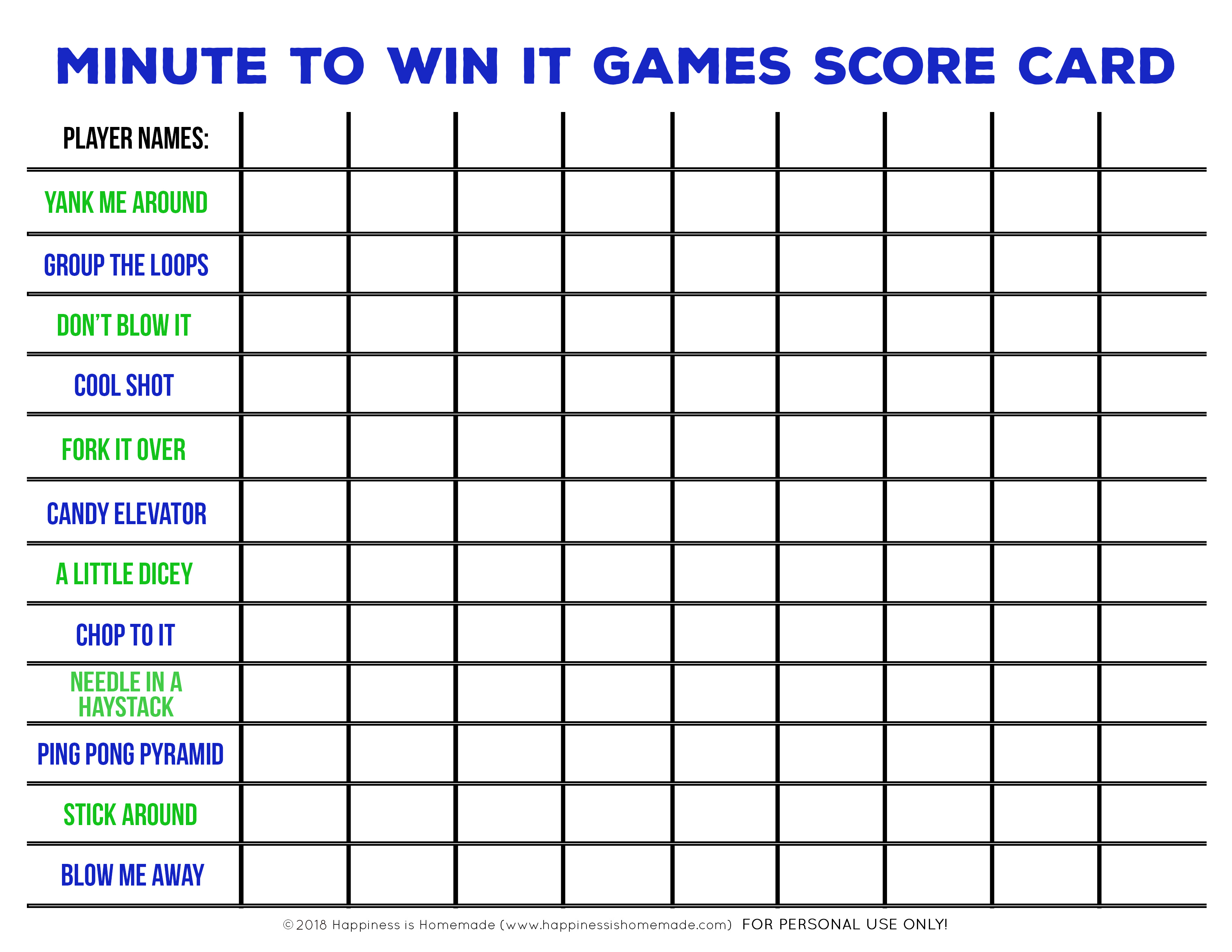 Minute To Win It Games For Kids Teens And Adults