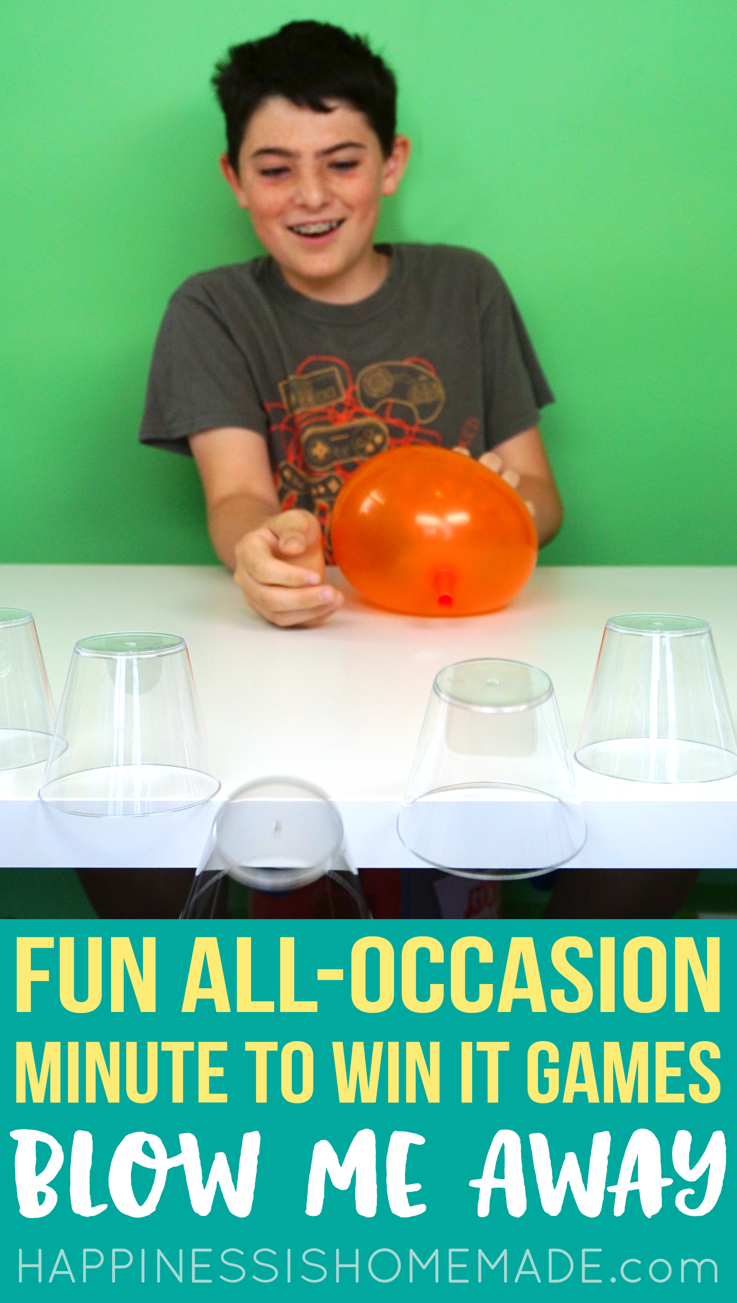 Minute to Win It Games - Blow Me Away - Balloons and Cups
