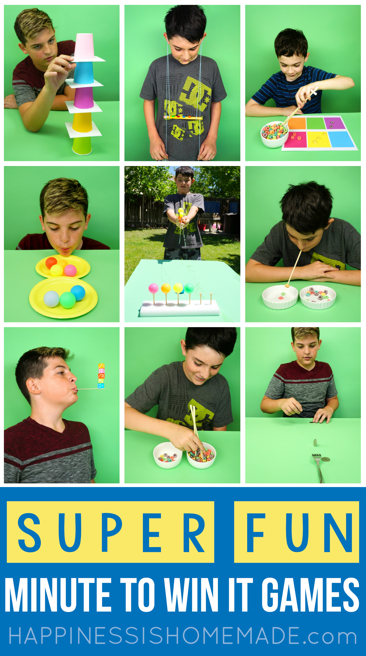 Fun Minute to Win It Games for Kids, Adults, Groups, and More